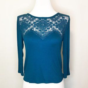 NWT American Eagle Lace Long Sleeve Tee